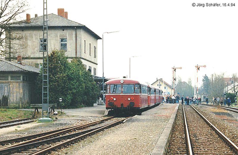 Sonderzug aus Nürnberg in Feuchtwangen 16.4.94