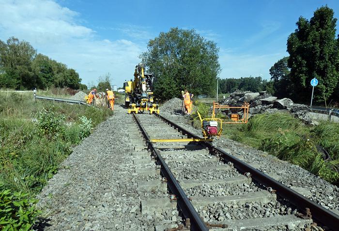 Rückbau ehemaiger Bahnübergang B 25