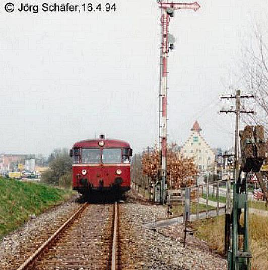 Ausfahrt aus Dinkelsbühl Sonderzug Eisenbahnfreunde Nürnberg