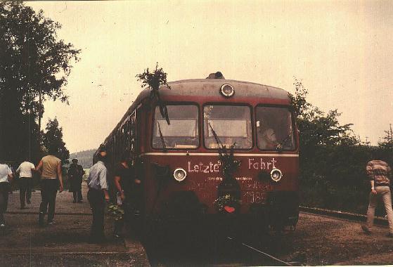 Letzter Personenzug in Wilburgstetten