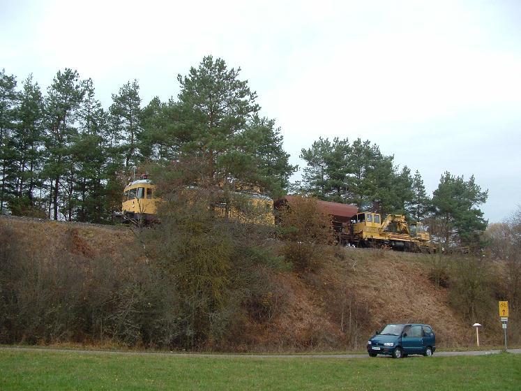Bauzug bei km 40,3 am 10.11.2012