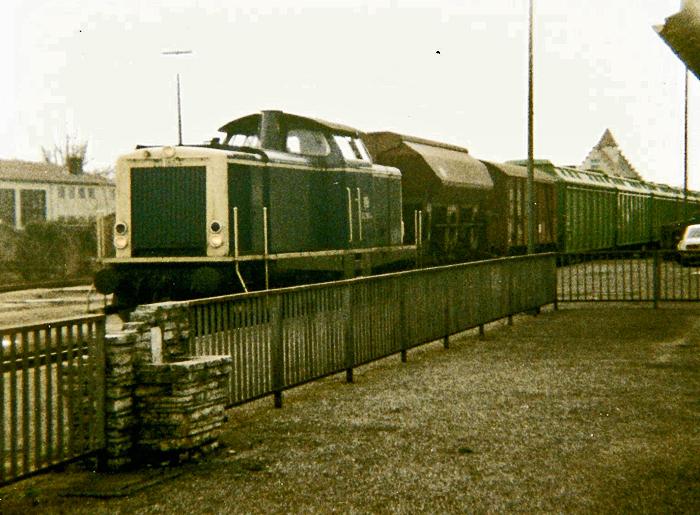 Güterzug 1988 in Dinkelsbühl