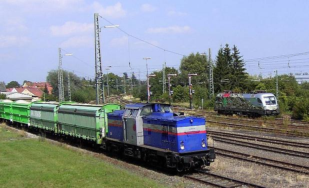 RAR V 1200.02 und MWB 1116 912 am 4.9.04 in Nördlingen - Foto: Florian Wieser