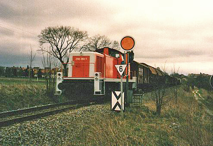 Einfahrvorsignal Dinkelsbühl Nord 1989