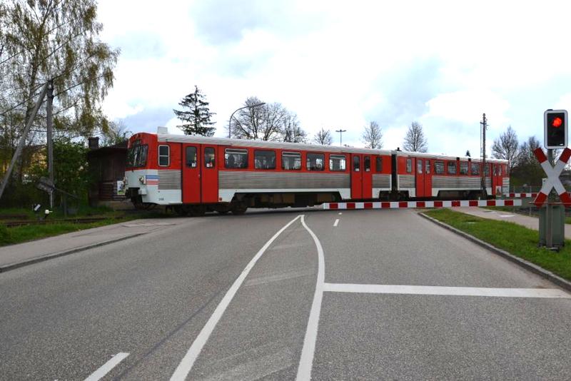 24.April 2016 BÜ Luitpoldstraße in Dinkelsbühl