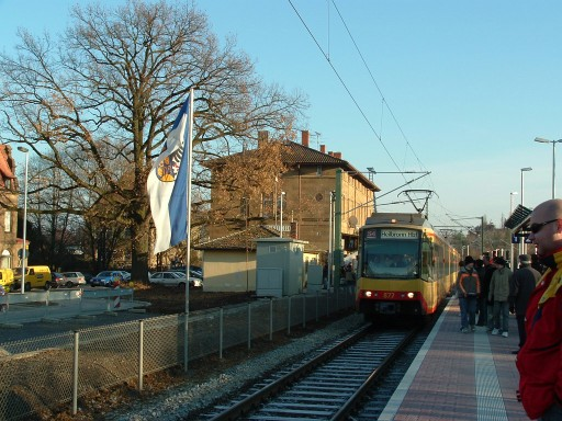 Stadtbahn in Weinsberg am 11.12.2005