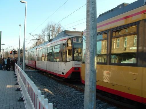 Stadtbahn in Weinsberg 11.12.2005