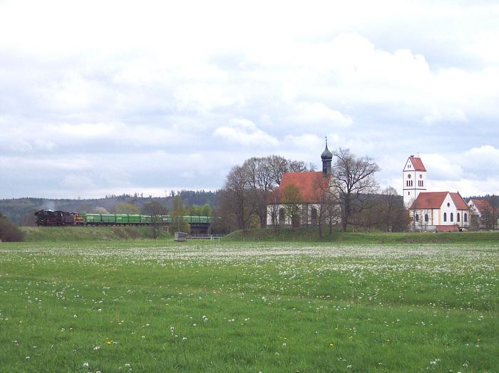 41 1150 mit V 350 001bei Wilburgstetten - Mai 2005