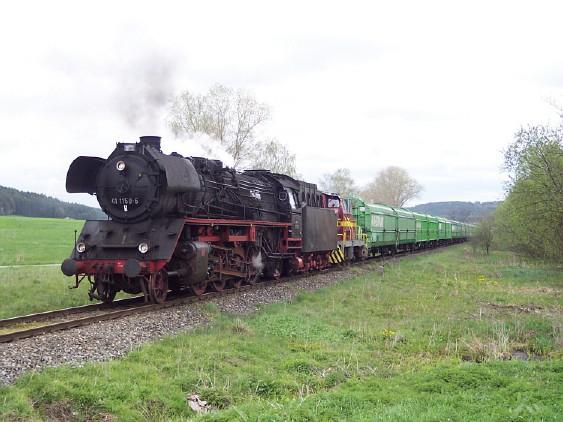41 1150 und V 350 001 Wilburgstetten Mai 2005