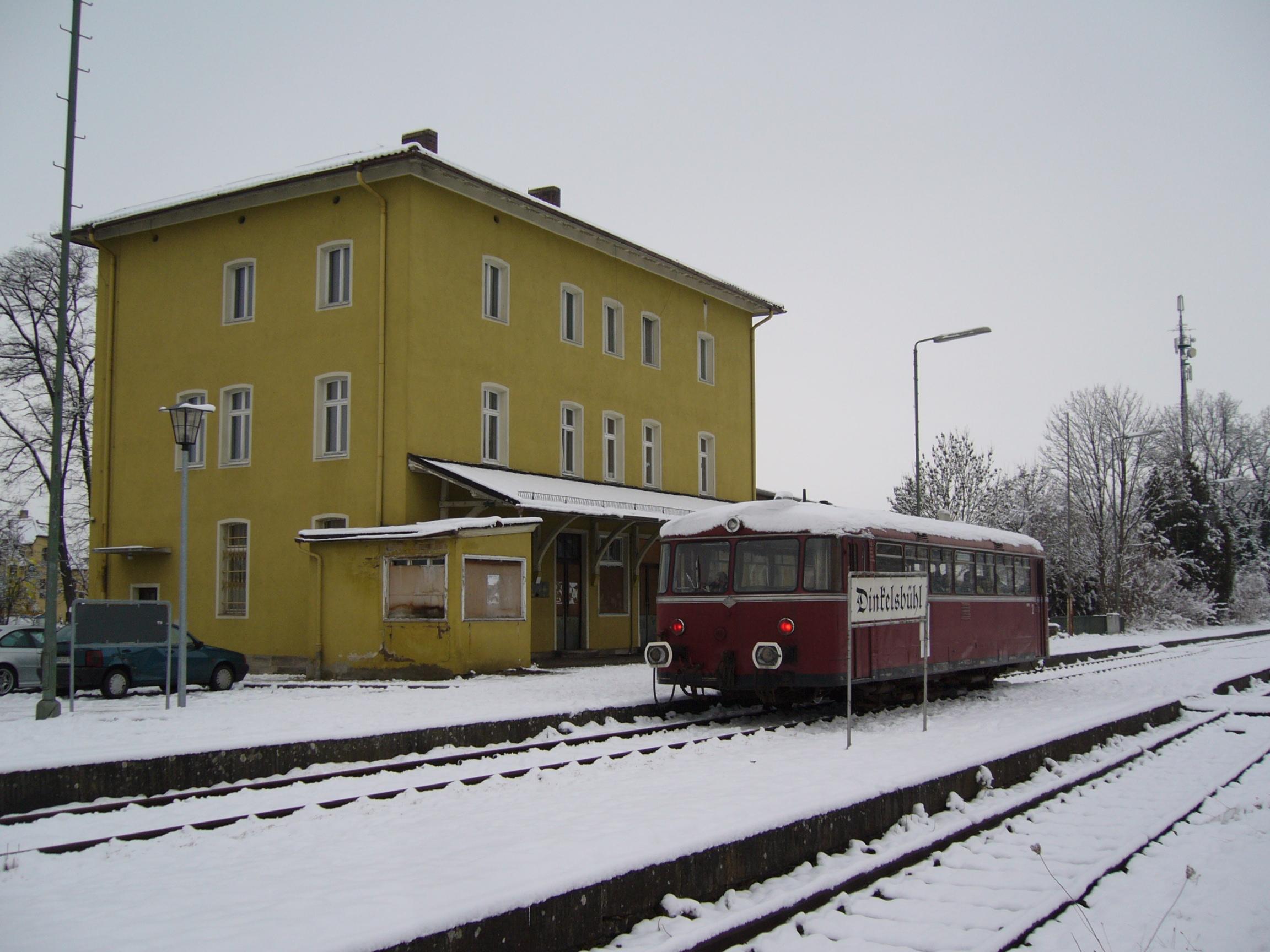 Bhf. Dinkelsbühl 2008 (Foto: Wolfgang Frank)