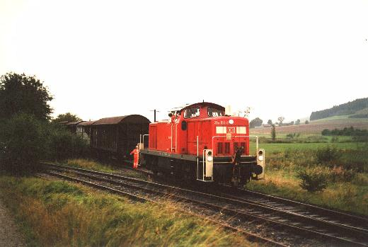 290 150-8 rangiert am Anschlussgleis in Dorfgütingen
